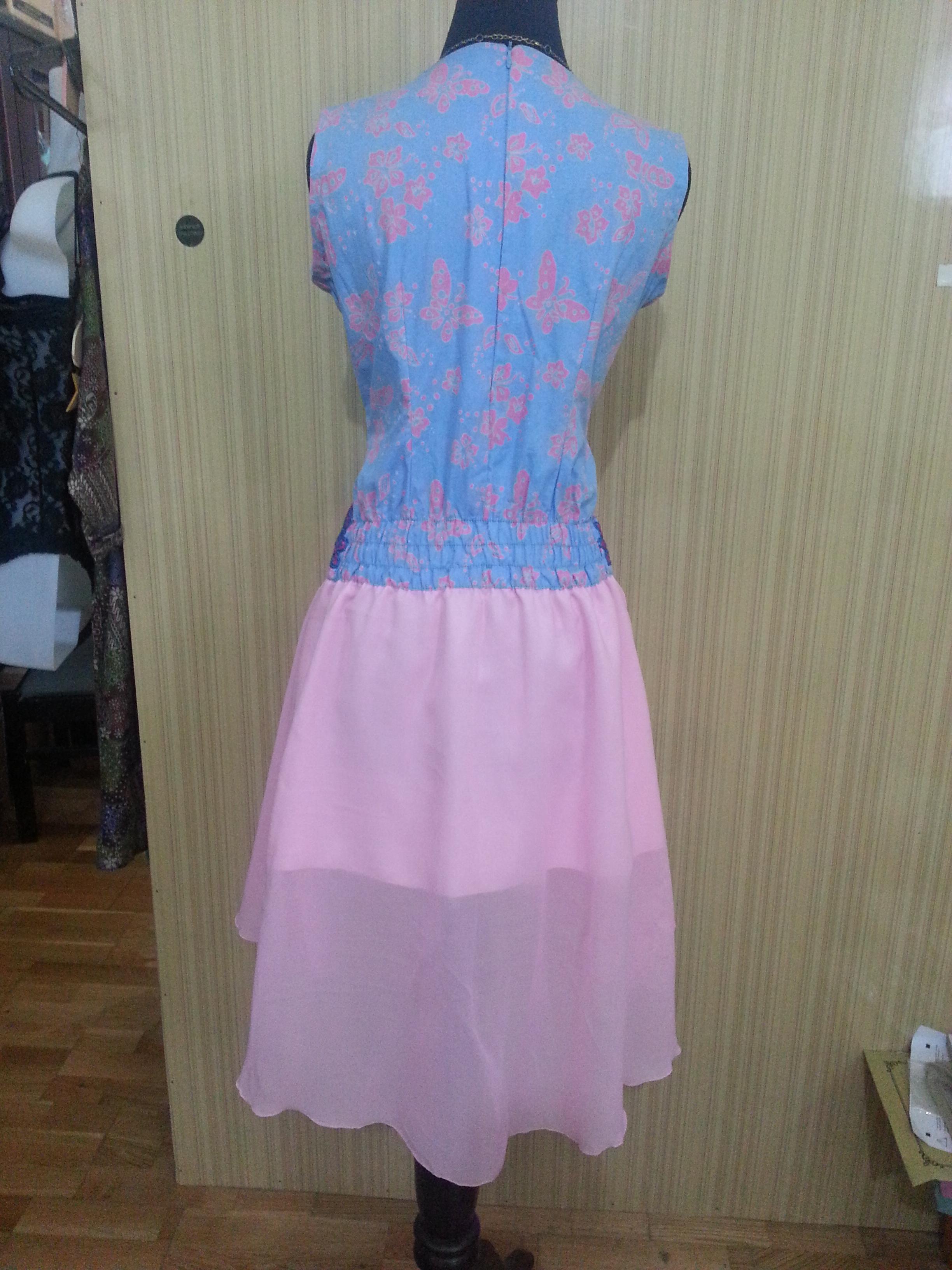 Dress Batik Kombinasi Sifon